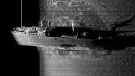 """Am Grund der Ostsee: Ein Sonarbild der polnischen Marine zeigt das Wrack der """"Steuben""""."""