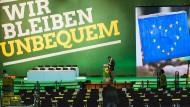 Motto des Parteitags in Münster: Wir bleiben unbequem.