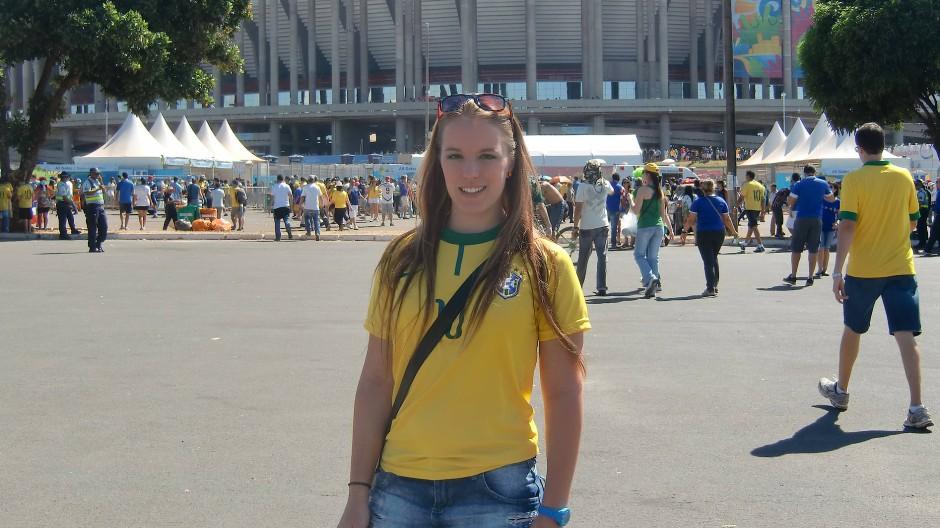 Simone Siewert 2014 in Brasilien: Ein Jahr lang arbeitete sie in einem Hilfsprojekt mit. Und erlebte die Fußball-WM.