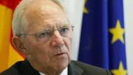 """""""Keine psychoanalytischen Betrachtungen"""": Zu seinem Abschied äußerte sich Wolfgang Schäuble nur kurz."""