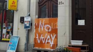 Mauer vor Wahllokal – keine Konsequenzen