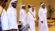 Der saudi-arabische Ölminister Ali al-Naimi (Mitte) in Doha