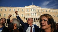 Reform-Proteste vor dem Parlament in Athen.