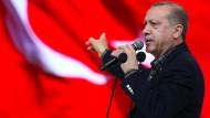 Erhebt schwere Vorwürfe gegen Deutschland: der türkische Präsident Recep Tayyip Erdogan