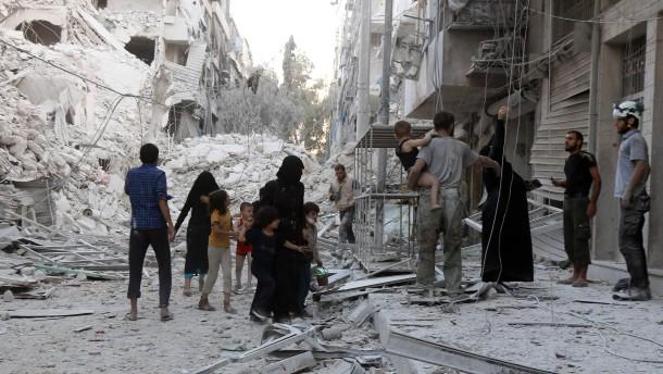 Hunderttausende in Aleppo haben nur noch giftiges Brunnenwasser