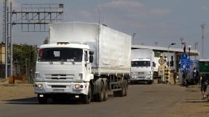 Russische Lastwagen sollen Luhansk erreicht haben