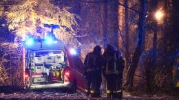 Schnee erschwert Bergung nach Flugzeugabsturz mit drei Toten
