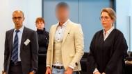 Alaa S. mit seiner Verteidigerin Ricarda Lang am Donnerstag vor dem Landgericht Chemnitz