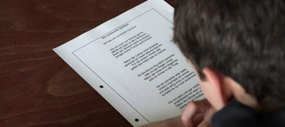 Gedichte schule lehrer