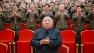 Propaganda-Foto von Nordkoreas Machthaber Kim Jong-un