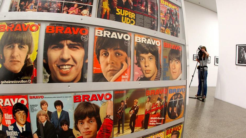 Beatles und Co.: Coverfotos der Bravo aus den 1960er und 1970er Jahren waren vor einigen Jahren in einer Ausstellung in Essen zu sehen.