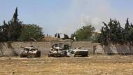 Streitkräfte des syrischen Regimes vor Douma