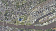 Gestern Autohaus, morgen Wohngebiet: Das frühere Daimler-Areal im Ostend