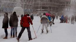Zentrum Spaniens versinkt im Schnee