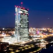 Das Gebäude der EZB in Frankfurt am Main
