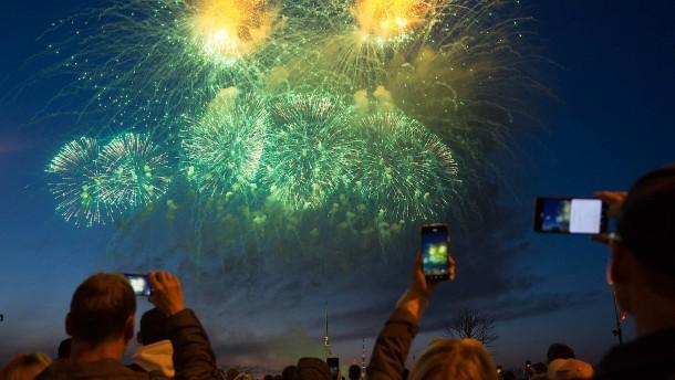 """Feuerwerk zum """"Tag des Sieges"""" in Russland"""