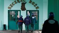 Der Eingang zur Kupfermine im polnischen Polkowice (Archivbild)