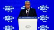 Joachim Gauck am Mittwoch in Davos
