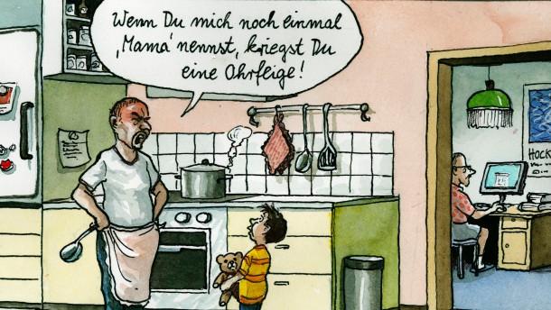 Karikatur / Greser und Lenz / Homosexuelle und Adoption