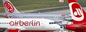 Am Boden: Ein Flugzeug der insolventen Fluglinie Air Berlin