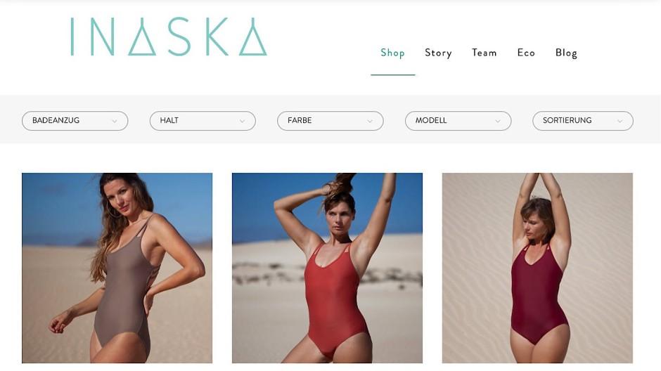 In der aktuellen Kollektion von Inaska sind alle Modelle zu 78 Prozent aus recyceltem Nylon.