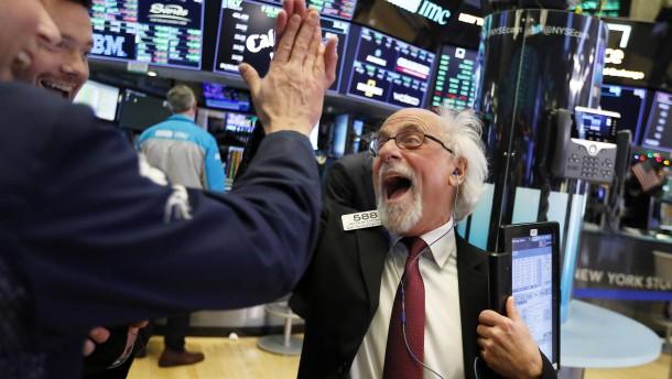 Amerikas Börsen machen Rekordsprung
