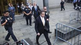 Trumps Ex-Anwalt Cohen bekennt sich schuldig