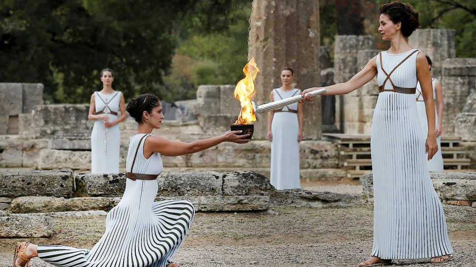 Neues Feuer für die griechischen Finanzmärkte? Die Zeremonie zur Entzündung des olympischen Feuers.
