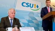 Seehofer kritisiert Söder für Kritik an Merkel