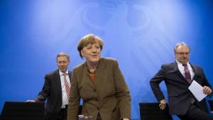 """Merkel: """"Ich finde, dass wir sehr viel auf den Weg bringen"""""""