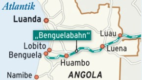 Karte / Angola