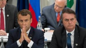 """Macron: """"Das ist traurig für ihn und alle Brasilianer"""""""