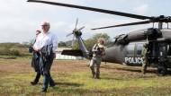 Außenminister Frank-Walter Steinmeier während seines Besuchs in Kolumbien