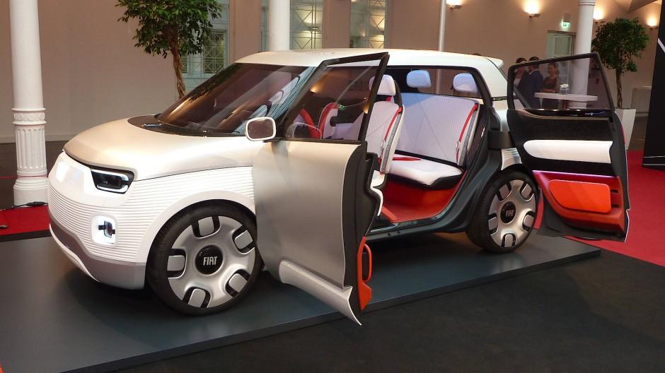 Viele Vorschläge, wie viel Realität? Das Fiat-Concept-Car Centoventi.