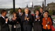 Jubel bei der CDU in Sachsen