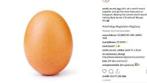 Rätsel um Rekord-Ei auf Instagram gelöst