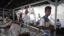 Erdbeben trifft Indonesien hart