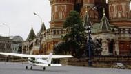 Gelandet: Rusts Cessna am 28. Mai 1987 auf dem Roten Platz in Moskau