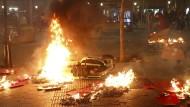 In Barcelona ist es während der Proteste zu Sachbeschädigung und Gewalt gekommen.