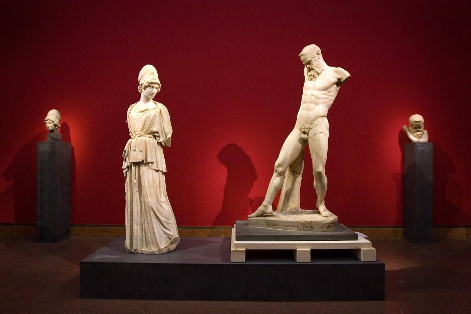 Die besagte Athena und der Satyr Marsyas im Frankfurter Liebieghaus