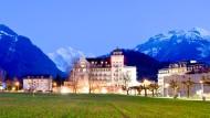 Strahlend sauber: Das Victoria Grand Hotel, das erste Hotel am Platz in Interlaken