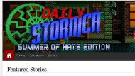 """Okkulte Symbole und verschwörerische Hassbotschaften: Die Internetseite """"Daily Stormer"""" nach einem Hackerangriff der Internetaktivisten von Anonymous"""