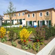 """Zurzeit ein teurer """"Spaß"""": Häuser in einem Neubaugebiet in Frankfurt am Main"""