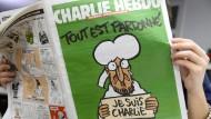 """Müssen Muslime das aushalten können? Das Titelblatt der ersten Ausgabe von """"Charlie Hebdo"""" nach dem Anschlag auf die Redaktion."""