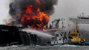 Brand auf Öltanker unter Kontrolle