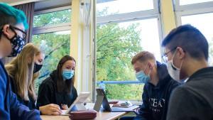 Hybridunterricht an Frankfurts Berufsschulen