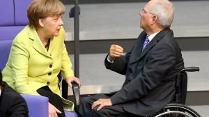 Schäuble von Merkel abgekanzelt