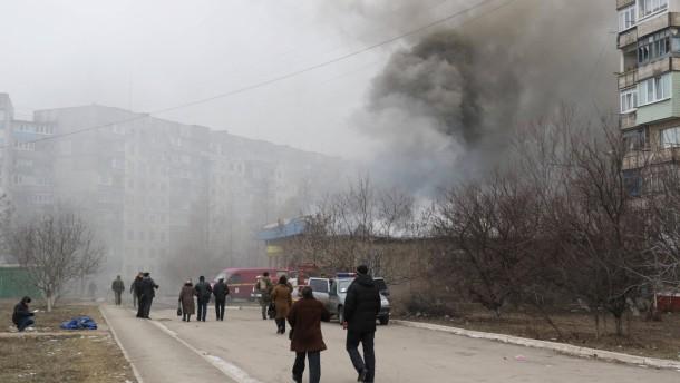 Staatstrauer nach Raketenangriff auf Mariupol