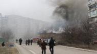 In Mariupol wurde ein Wohnviertel von Raketen getroffen