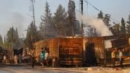 Beim Angriff auf einen Konvoi mit Hilfsgütern sind 21 Menschen getötet worden.
